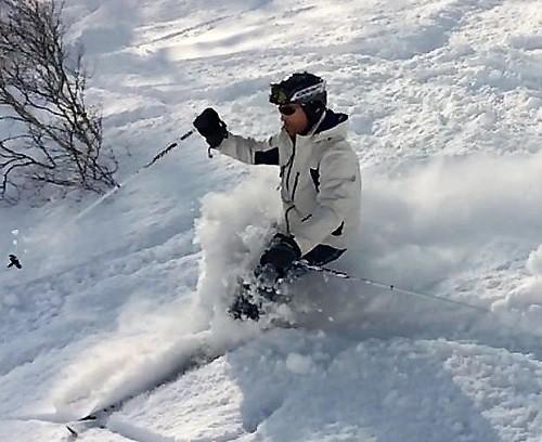 Redlands podiatrist Trevor Lane at the snow