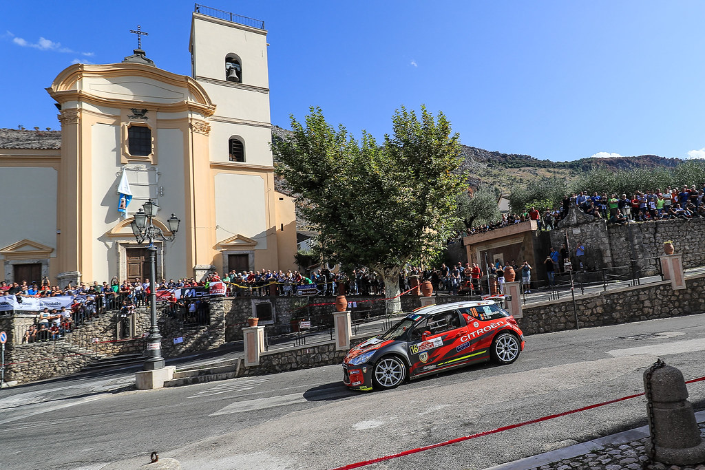 16 TEMPESTINI Simone (ROM) ITU Sergiu (ROM) Citroen DS3  R5 action during the 2017 European Rally Championship ERC Rally di Roma Capitale,  from september 15 to 17 , at Fiuggi, Italia - Photo Jorge Cunha / DPPI