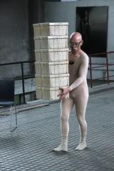 Performance by Patrick Jambon at Festival of naked forms, 3rd edition, 2017, Perla, Vrané nad Vltavou, Czech Republic.
