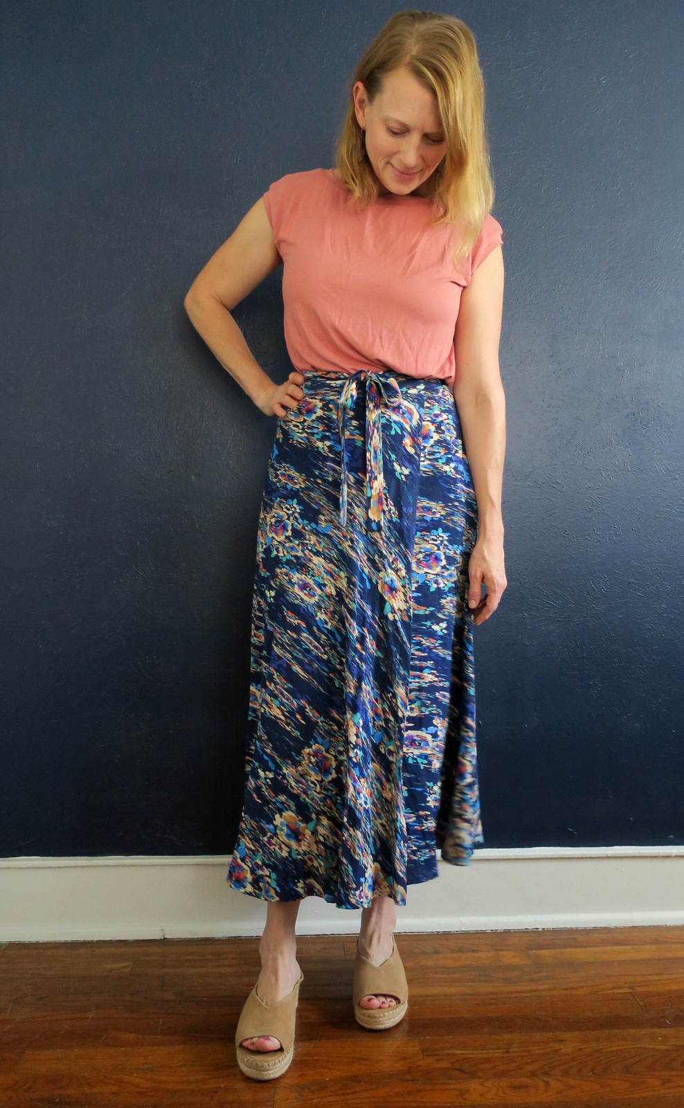 Circle wrap skirt and Simplicity 1366