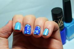Esmaltação das corujas: splatter nails :(