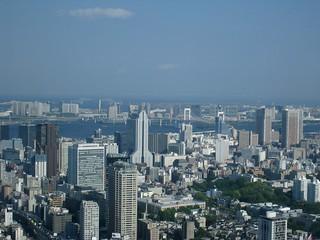 六本木ヒルズから(ワンピース展)03 東京ゲートブリッジとレインボーブリッジ