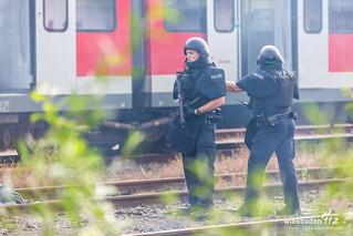 """Katastrophenschutzübung """"Astus"""" Hauptbahnhof Wiesbaden 30.09.17"""