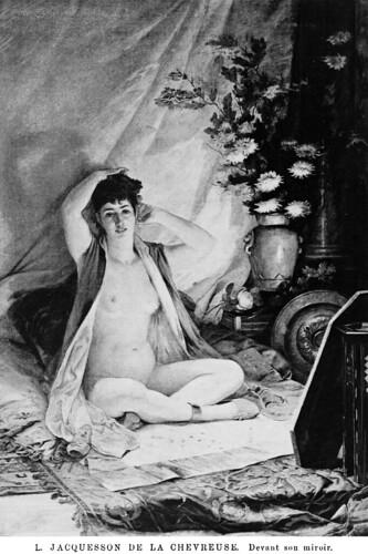 Louis Jacquesson de la Chevreuse (1839-1903) - Devant son miroir (1891)