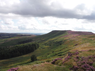 Higger Tor and Carl Wark from Burbage Bridge