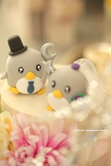 Penguins bride and groom custom Wedding Cake Topper, cute animals cake topper ideas