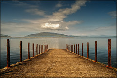 Little white cloud. Jetty. Kintyre.
