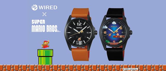 滿滿復古要素,回憶大爆發!WIRED x《超級瑪利歐兄弟》 聯名限量錶款(スーパーマリオブラザーズ限定モデル):AGAK702、AGAK703