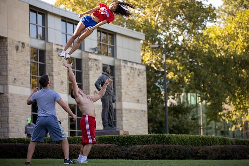 Fieldhouse Cheer Practice