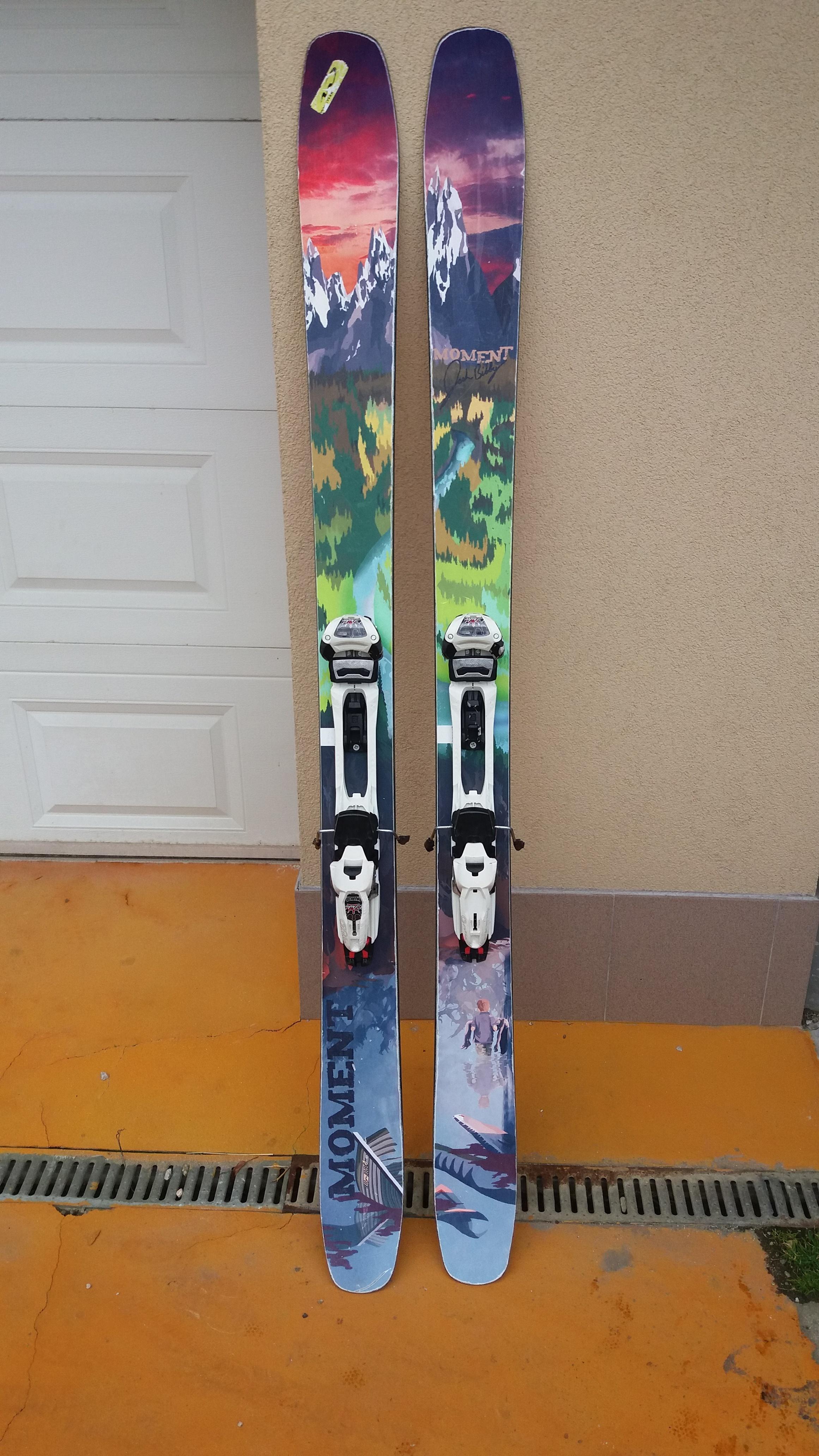 Freeride lyže Moment + vázání Marker Duke 16 - Bazar - SNOW.CZ 846272466d3