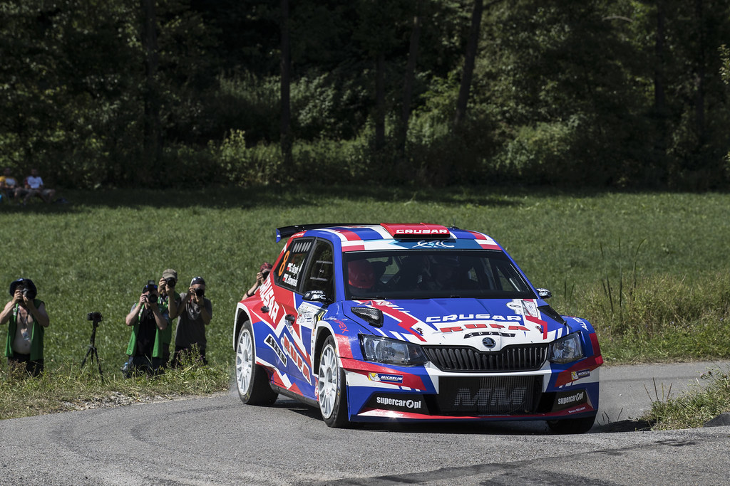 08 GRZYB Grzegorz (POL) BROWINSKI Bogusław (POL) Skoda Fabia R5 action during the 2017 European Rally Championship Rally Rzeszow in Poland from August 3 to 5 - Photo Gregory Lenormand / DPPI