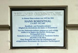 Gedenktafel für Hans Rosenthal