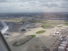 201708039 LH901 LHR-FRA London Heathrow airport with AA, BA, CX, DL, EK, QF and VS airplanes