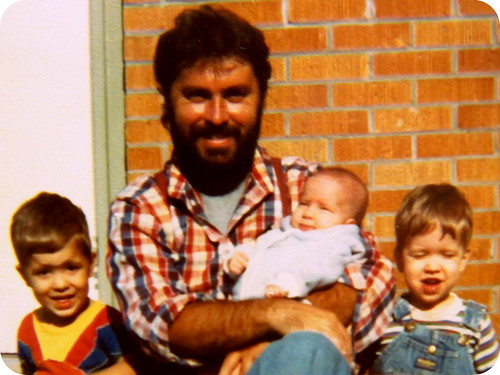 old photo of the kids and me early 1980's
