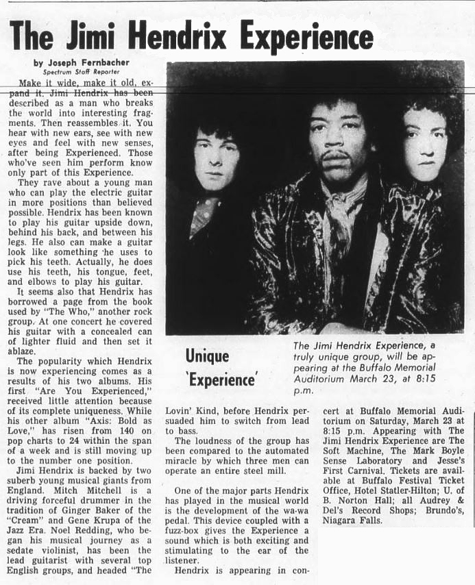 The Spectrum - Buffalo, New York 1968-03-22