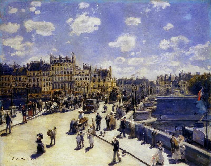 Le Pont-Neuf, Paris by Pierre Auguste Renoir, 1872