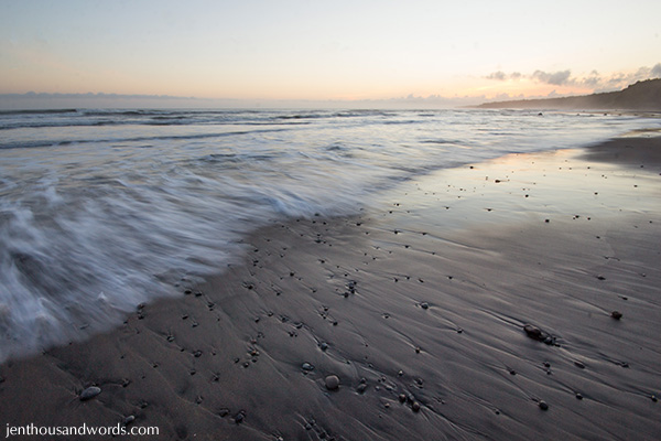 Beach at twilight 1
