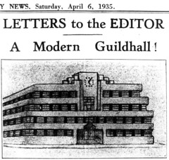 A Modern Guildhall Design - Cambridge Daily News 1935
