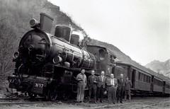 Spain Railways - Ferrocarril Vasco Asturiana Engerth type 2-6-0 steam locomotive Nr. 17 (Krauss 7808 / 1921) - 17 May 1961