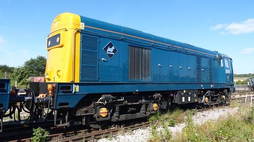 20 205 'British Rail' Class 20 loco /2 on Dennis Basford's railsroadsrunways.blogspot.co.uk