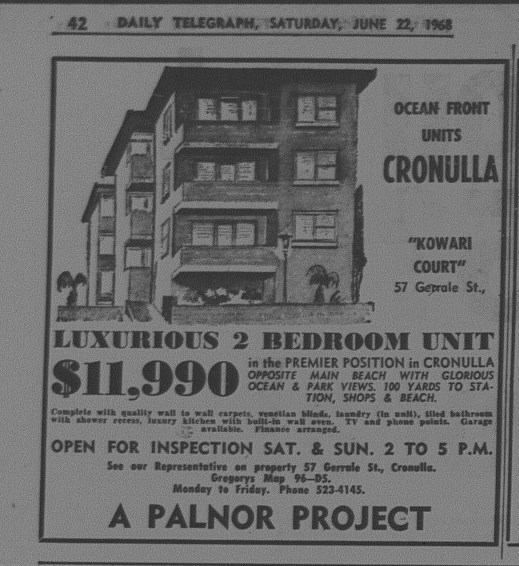 Cronulla units June 22 1968 daily telegraph 42