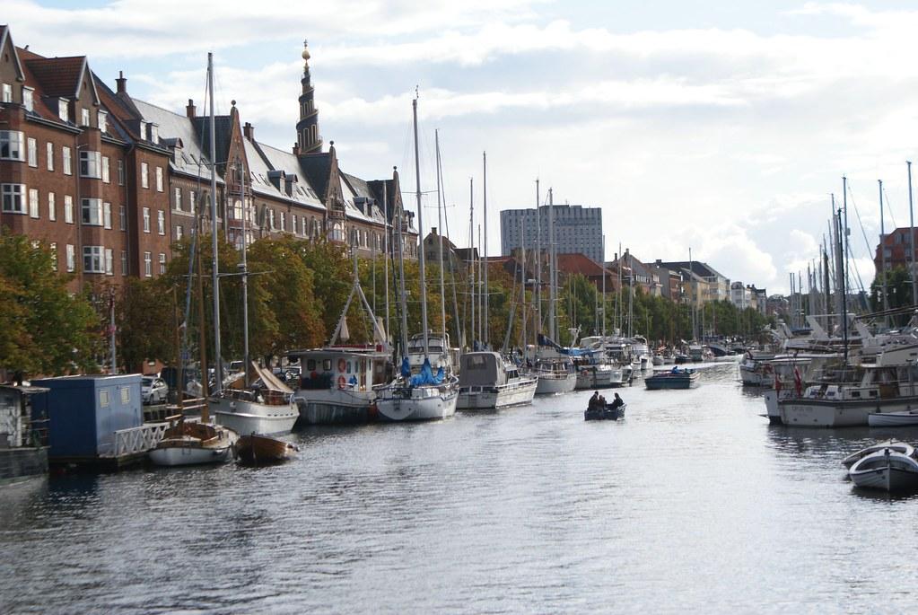 Canal du quartier de Christianshavn à Copenhague.
