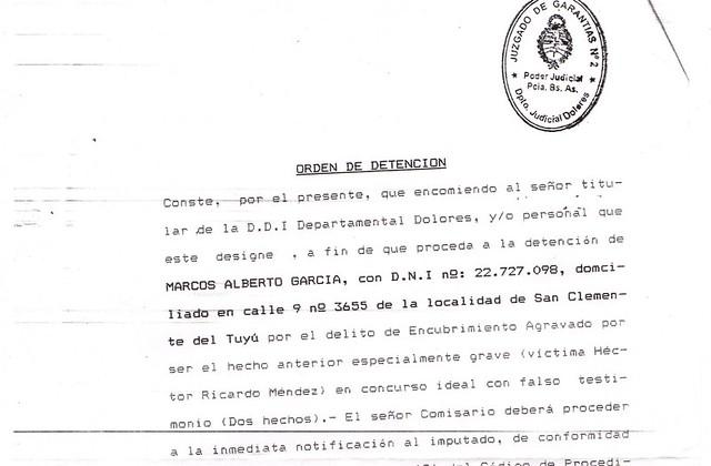 Denuncia Cotoco Garcia