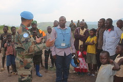 Loufu, North Kivu Province. Commander North Kivu Brigade, Brig Gen. Hari B Pillai visited the MONUSCO Indian contingent Temporal Operating Base Loufu, where he addressed local populations of Kitchanga, Nyanzale and Miriki