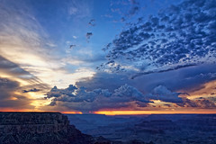 Sunset on the South Rim of the Grand Canyon