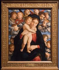 Madonna and Child with a Choir of Cherubim | Andrea Mantegna | Pinacoteca di Brera di Milano-8