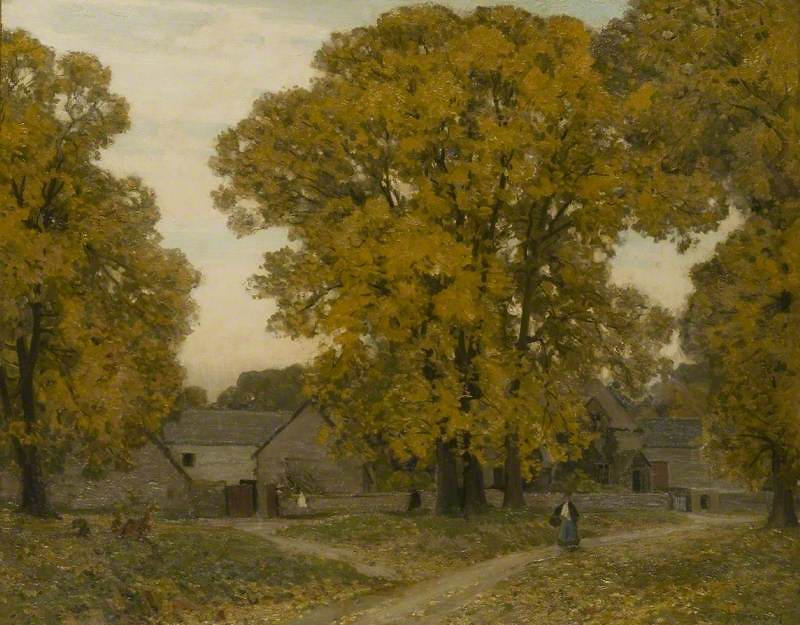 Autumn in Gloucestershire by Alfred East (1844 - 1913)