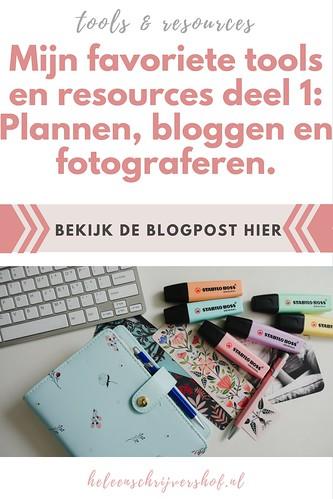 Pinterest- Mijn favoriete tools en resources deel 1- Plannen, bloggen en fotograferen.