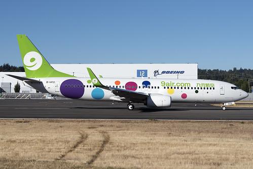 9 Air Boeing 737-800 B-1472