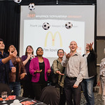 McDonalds folks toss soccer ball (Stacey Krolow)