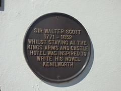 Photo of Walter Scott black plaque