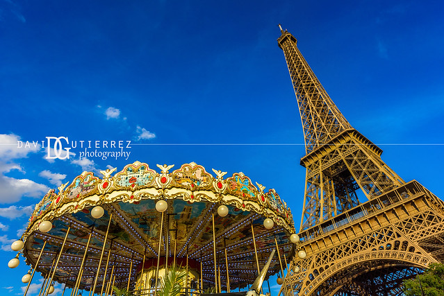 Eiffel Tower and Carousel (II), Paris, France