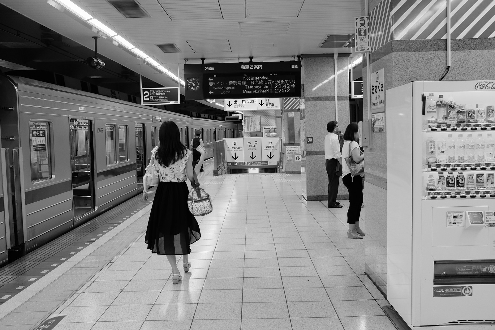 The Asakusa sation taken by FUJIFILM X100S.