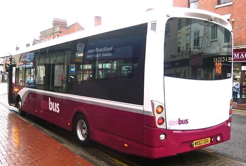 MX62 GOA 'yourbus' No. 1301 'dark red/white 2017' livery Wright Streetlite DF /2 on 'Dennis Basford's railsroadsrunways.blogspot.co.uk'