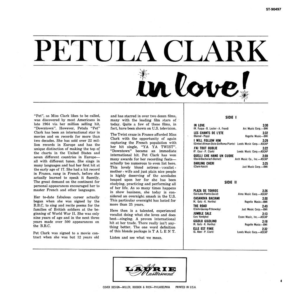 Petula Clark - In Love