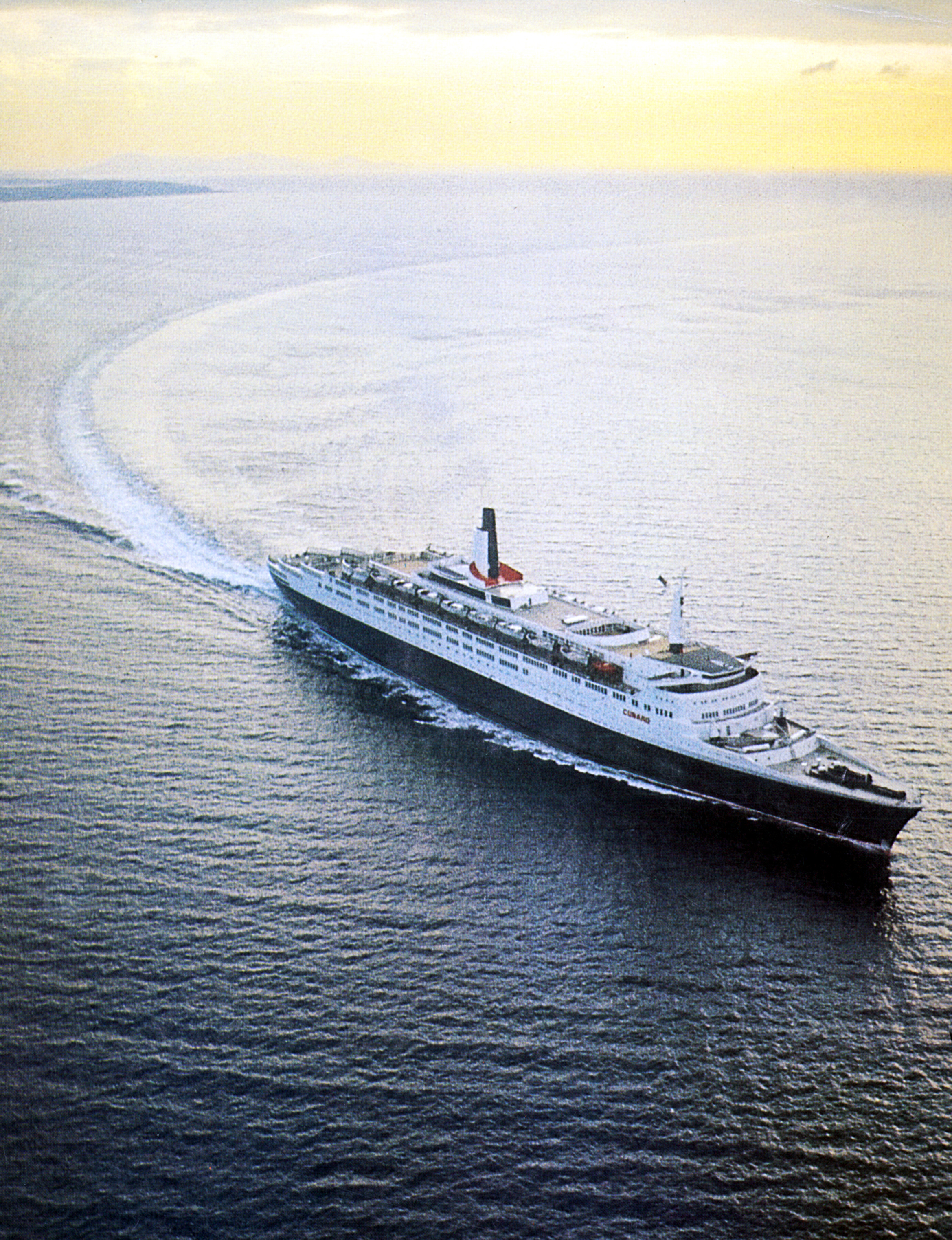 QE2 undergoing sea trials, early 1969
