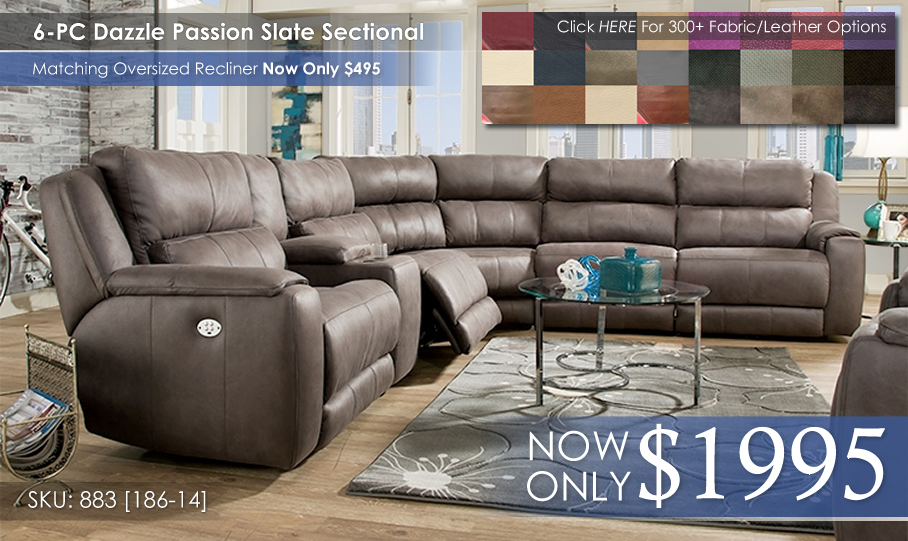 Dazzle 883 Sectional NoPower wColors