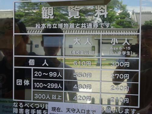 松本城の拝観料