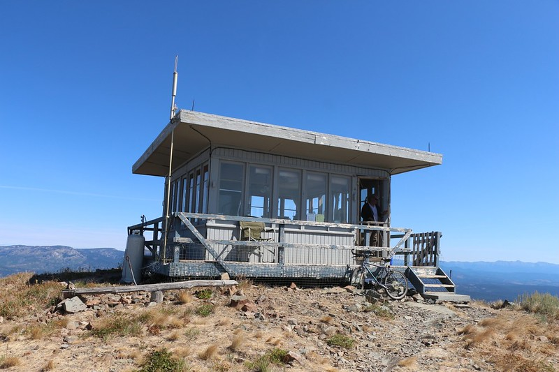 Dixie Butte Fire Lookout Tower - although it isn't really a tower as it sits on the ground