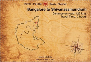 Map from Bangalore to Shivanasamundram