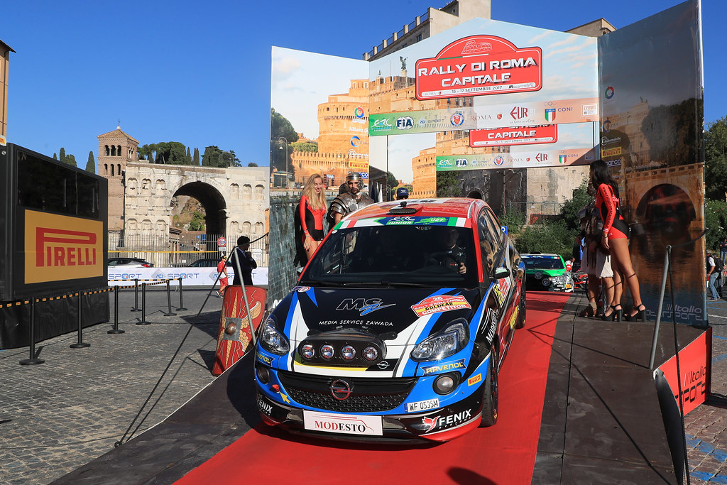 26  ZAWADA Aleksander (POL) DACHOWSKI Grzegorz (POL)  Opel Adam R2 start during the 2017 European Rally Championship ERC Rally di Roma Capitale,  from september 15 to 17 , at Fiuggi, Italia - Photo Jorge Cunha / DPPI