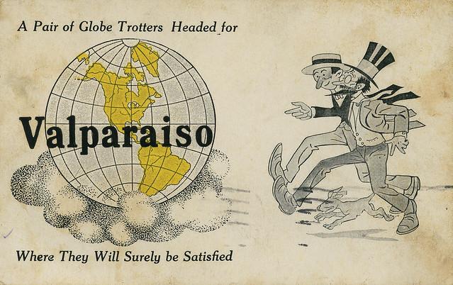 Globe Trotters Headed for Valparaiso, 1917 - Valparaiso, Indiana