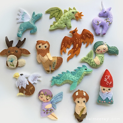 new felt mythical creatures sewing pattern!