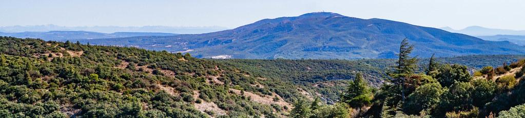 Aussicht auf den Mourre Nègre, 1.215 m, im Grand Luberon