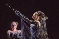 Rebecca Evans as First Lady, and Sabine Devieilhe as Queen of the Night In Die Zauberflöte, The Royal Opera Season 2017/18 © ROH 2017. Photograph by Tristram Kenton.