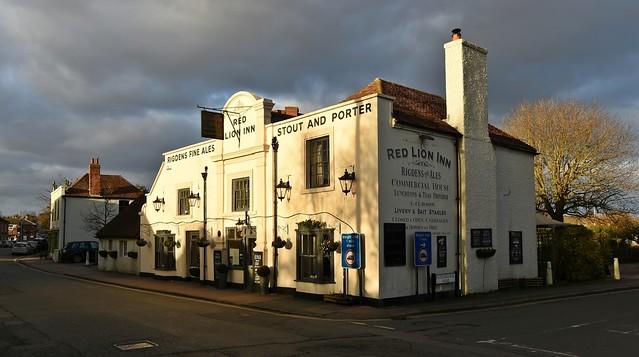 The Red Lion Inn in the village of Bridge near Canterbury